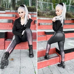 NWT Faux Leather Leggings